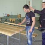 Направихме дървена маса
